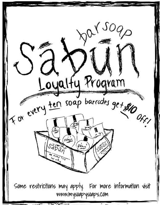 A Customer Loyalty Program from soapy soap company